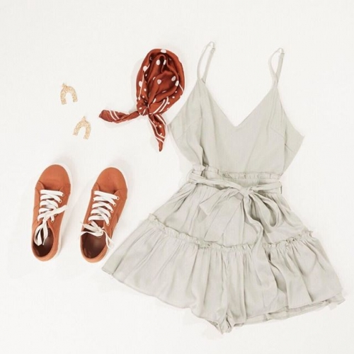 Simple but so cute! Check out this ruffle playsuit and accessories in store at @allyfashion. . . . #allyfashion #fashion #playsuit #summerfashion #style #lakelandsshoppingcentre #byISPT