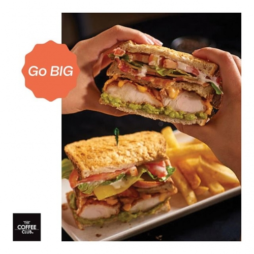 Life's like a sandwich – the more you add to it, the better it becomes  Get your hands around @thecoffeeclubaustralia's new Spicy Buffalo Chicken and Bacon and Avo Club Sandwiches. Available for a limited time only, so get in quick! . . . #thecoffeeclub #clubsandwiches #clubsandwich #haloumi #bacon #doublebacon #hunger #hangry #lunch #lunches #avo #avocado #byISPT #lakelandsshoppingcentre #lakelands