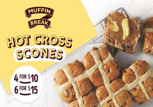 HOT CROSS SCONES HAVE LANDED IN TIME FOR EASTER!